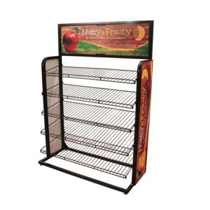 Wire Display Rack With Graphic China Factory Price