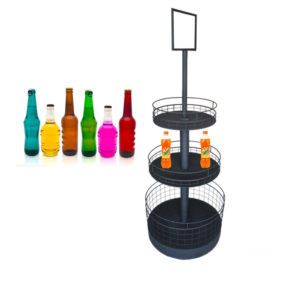 round display stand for drinks China factory price
